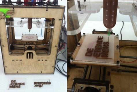stampante 3D di cioccolato